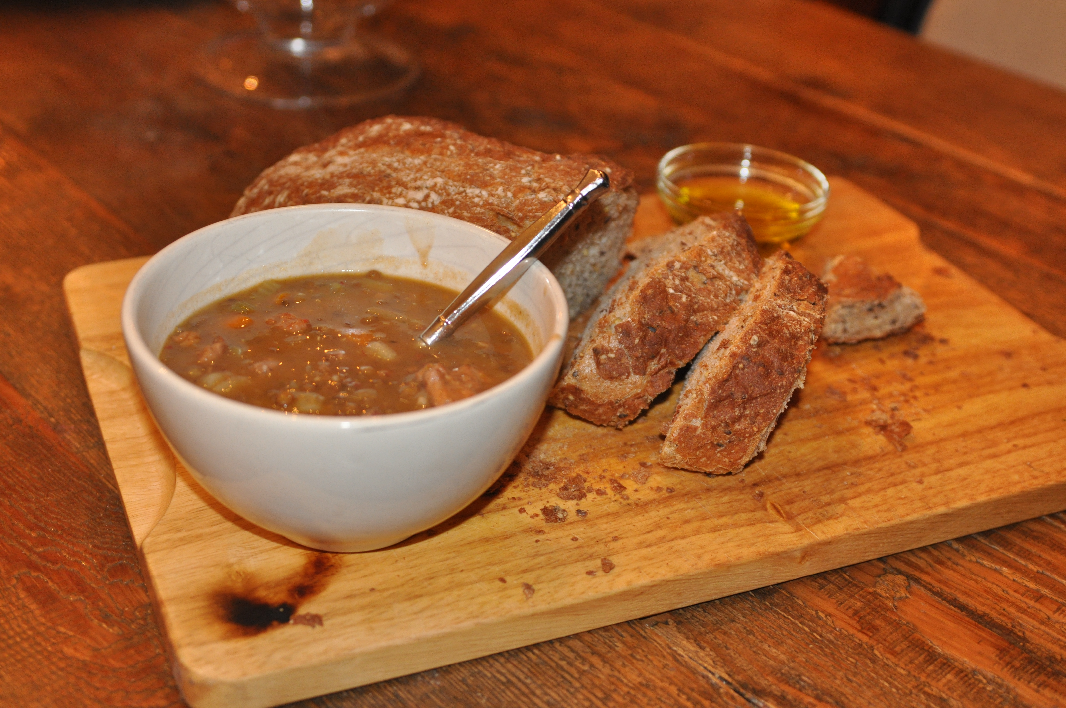 Rustic Lentil Soup | At Robin's House